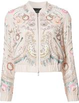 Needle & Thread floral embellished bomber jacket - women - Polyester - 8