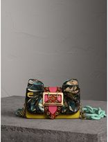 Burberry The Ruffle Buckle Bag in Snakeskin, Calfskin and Check, Pink