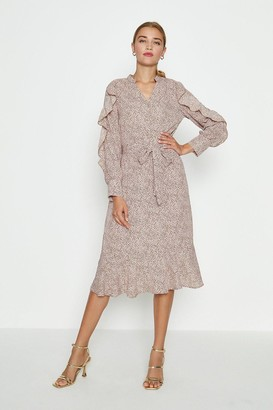 Coast Frill Sleeve Belted Midi Dress