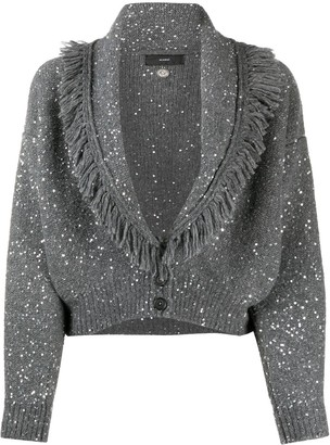 Alanui Sequin-Embellished Fringed Cardigan