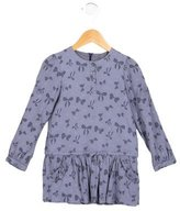 Tartine et Chocolat Girls' Bow Print Long Sleeve Top