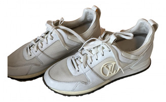 Louis Vuitton Run Away White Leather Trainers