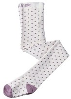 Mini A Ture White and Purple Spot Renate Stockings