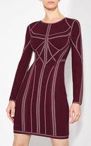 Herve Leger Elaina Metallic Jacquard Dress