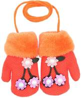 Dorapocket Toddler Cute 3D Flower Kids Gloves Baby Knitted Warm Mittens