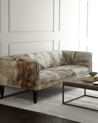 """Old Hickory Tannery Bryson Hairhide Sofa 86"""""""