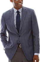 Claiborne Linen-Look Check Sport Coat - Classic Fit