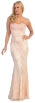 Dancing Queen - Strapless Beaded Sweetheart Long Gown 8072