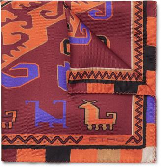 Etro Printed Silk-Twill Pocket Square
