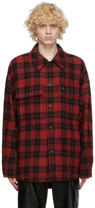 Wooyoungmi Red Wool Plaid Jacket