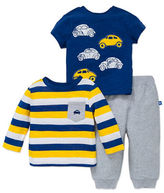 Little Me Baby Boys Three-Piece Cars Tee and Pants Set