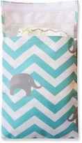 Tiny-Tote-Along Elephant Chevron Diaper Bag in Blue
