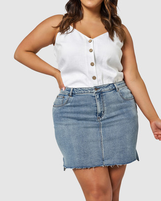 Something 4 Olivia Aria Stepped Hem Skirt
