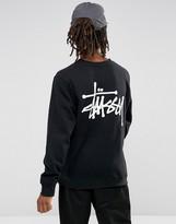 Stussy Sweatshirt With Back Print In Black