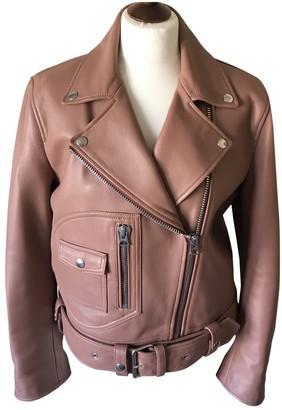 Acne Studios Orange Leather Leather Jacket for Women