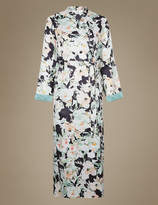 M&S Collection Floral Print Wrap Dressing Gown