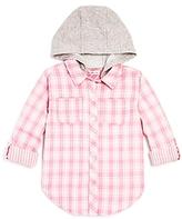 Design History Girls' Hooded Plaid Button-Down Shirt - Big Kid