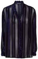Markus Lupfer Betsy Velvet Striped Blouse
