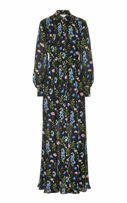 Carolina Herrera Floral-Print Silk Maxi Dress