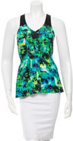Under.ligne By Doo.ri Silk Watercolor Print Top