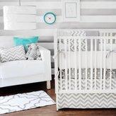 New Arrivals Zig Zag 3 Piece Crib Bedding Set in Gray