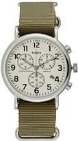 Timex THE WEEKENDER Chronograph watch cream/green