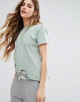 Daisy Street Distressed T-Shirt