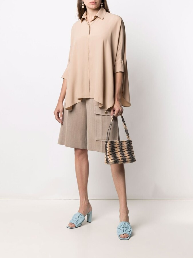 Thumbnail for your product : Blanca Vita Button-Down Flared Blouse