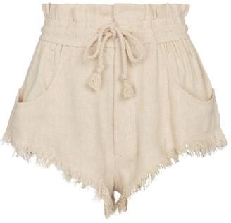 Etoile Isabel Marant Talapiz high-rise silk twill shorts
