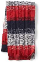 Gap Marled gradient stripe cable-knit scarf