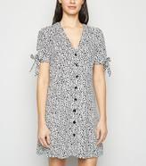 New Look Blue Vanilla Leopard Print Tea Dress