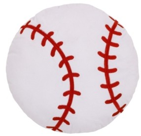 NoJo Toddler Boy's Sports Decorative Pillow Baseball with Embroidery Bedding
