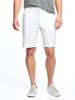 "Old Navy Built-In Flex Stay-White Ultimate Slim Shorts for Men (10"")"