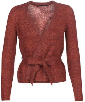 Vero Moda VMGLASSY women's Cardigans in Brown