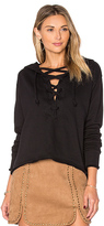 LnA Lace Up Hoodie