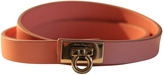 Salvatore Ferragamo Pink Leather Bracelet