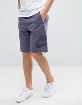 Nike Terry Shorts In Purple 833959-539