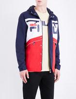 Fila Contrast-panel hooded shell jacket