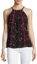 Joie Hawn Sleeveless Floral-Print Silk Top