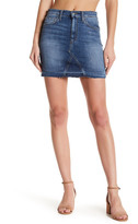 Joe's Jeans Raw Edge Denim Mini Skirt