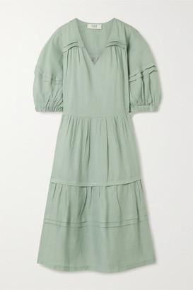 Sea Lucy Tiered Ramie Midi Dress - Mint