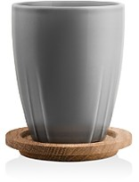 Kosta Boda Bruk Mug with Oak Lid, Set of 2