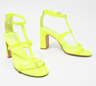 Vince Camuto Leather Strappy Heeled Sandals - Belindah