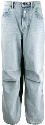Alexander Wang Contrast Denim Panel Trousers