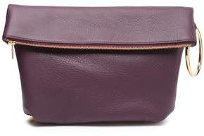 Mother of Pearl Ruby Pebbled-leather Clutch