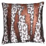Thro Cenny Cheetah Reversible Sequin Pillow from by Marlo Lorenz
