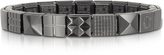 Nomination Steel Ikons Pyramid and Mesh Brushed Stainless Steel Bracelet