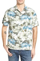 Tommy Bahama Men's Big & Tall Garden Of Hope And Courage Silk Camp Shirt