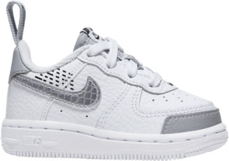 Nike Force 1 Low Basketball Shoes - White / Wolf Grey Black
