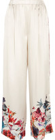 Carine Gilson Printed Silk-satin Pajama Pants - Ivory